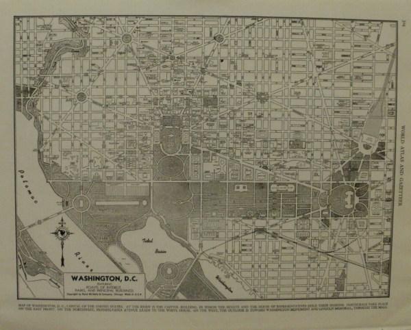 Vintage City Map Of Washington Dc 1949 Potomac