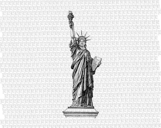 Statue of Liberty Printable Graphic Instant Download High