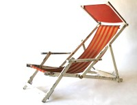 VINTAGE BEACH CHAIR chippy classic white by ...