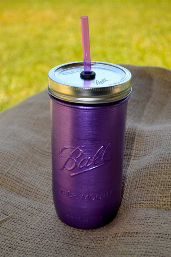 Mason Jar 24 Oz Tumbler with Straw