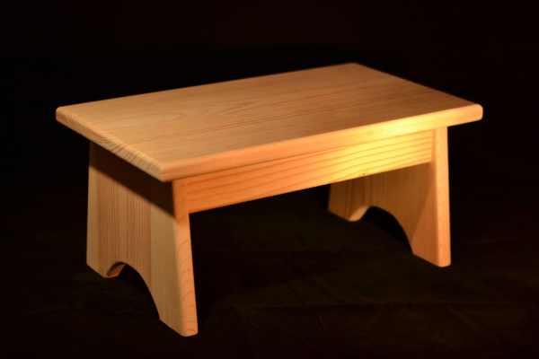 Wood Step Stool Unfinished Pine