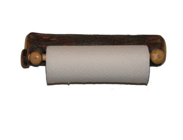 Rustic Hickory Wall Mounted Paper Towel Holder