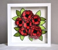 Shadow Box Frame Framed Art Home Decor Framed Paper Flower 3D