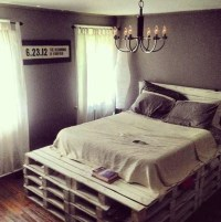 Items similar to Queen Size Pallet Bed Frame with ...