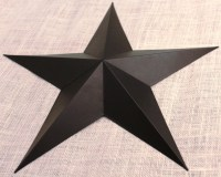 24 Large Metal Tin Barn Star Wall Decor