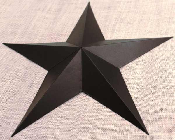 Large Metal Tin Barn Star Wall Decor