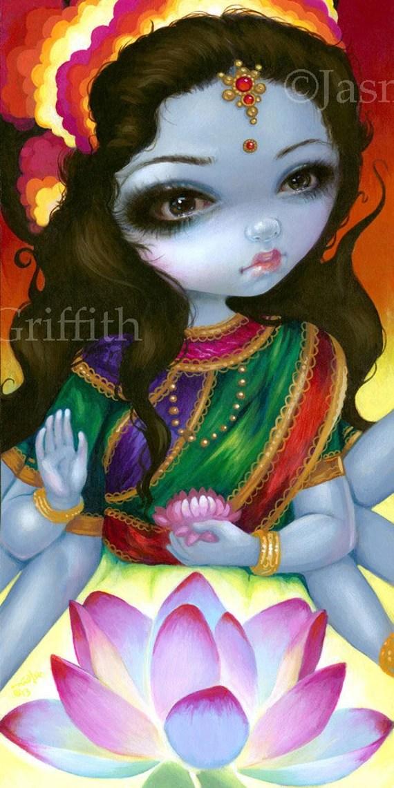 Lakshmi Art Print By Jasmine Becket Griffith BIG 8x16 Hindu