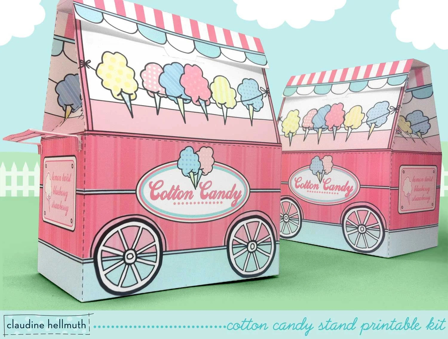 Cotton Candy Stand Party Favor Candy And Treat Boxes