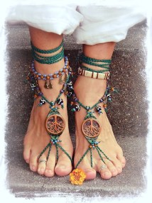 Tribal Tree Barefoot Sandals Forest Fairy Artisan