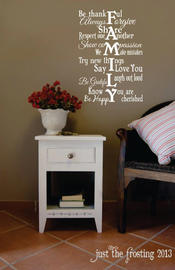 Family Vinyl Wall Decal