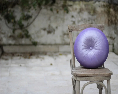 """Lilac velvet round pillow 16"""" - originalboutique"""