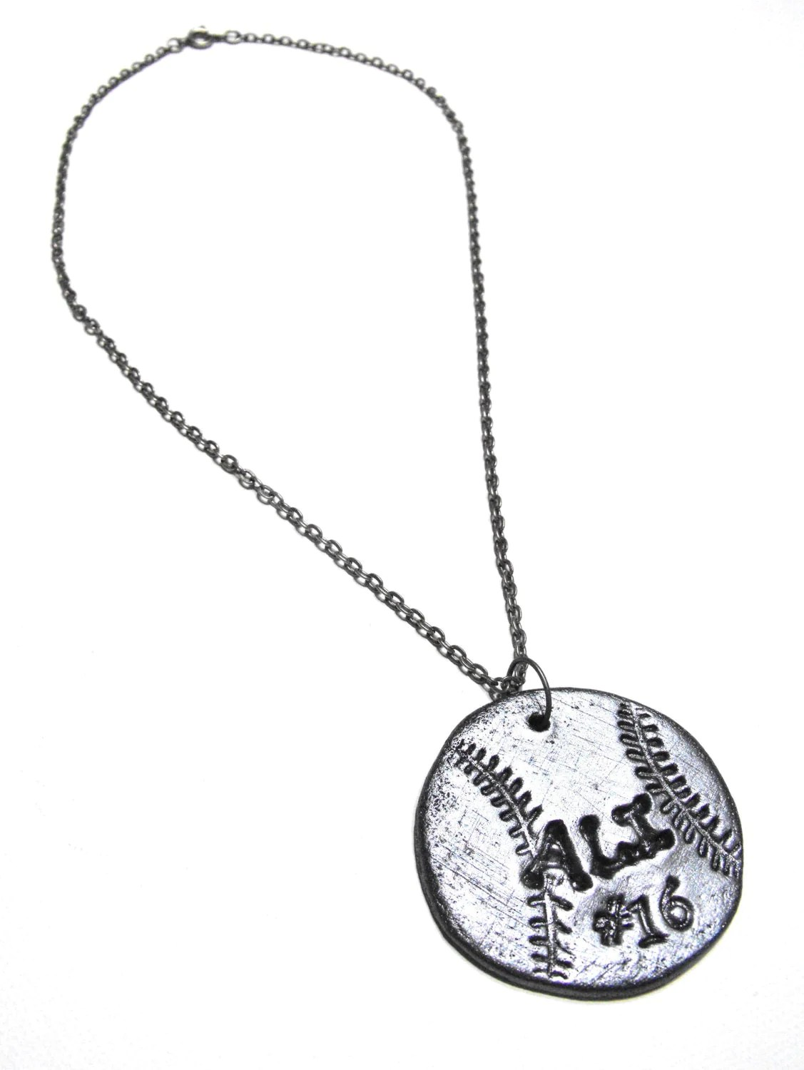 Softball Necklace Personalized with Player's Name