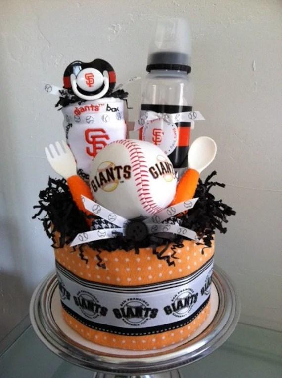 Orange and Black San Francisco Giants Baseball Mini Diaper