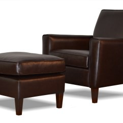 Leather Slipper Chair Chocolate Linen Tufted Dining Genuine Espresso Brown Accent And Ottoman