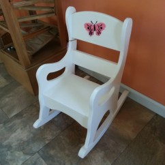 Wood Toddler Chair Tulip Table And Chairs Wooden Rocking Girl Preschool By Rustictoybarn