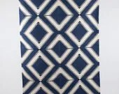 Area rug in Large Blue Diamonds in 4x6 - gypsya