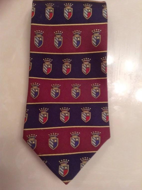 Vintage Tommy Hilfiger Necktie / Mens Silk Tie by Tommy