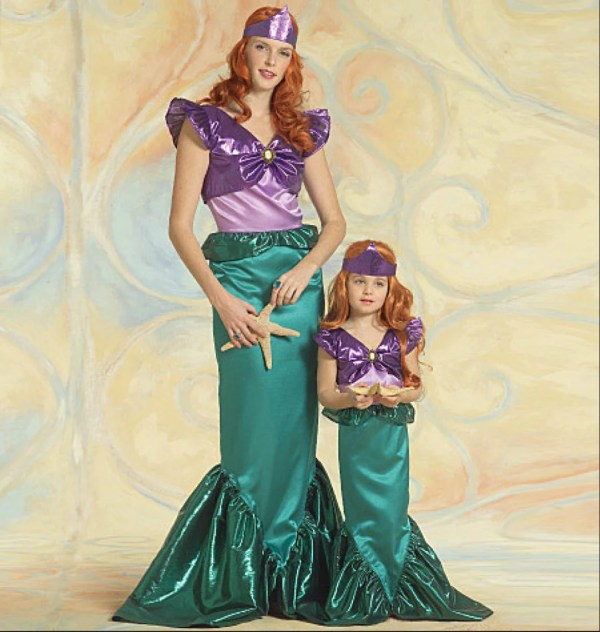 Disney-style Little Mermaid & Princess Cosplay Costumes Sewing