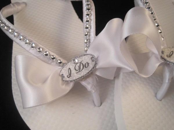 Sweet Bride White Bridal Wedding Flip