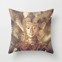 Buddha Pillow Case Decorative Throw Pillow Cover Golden