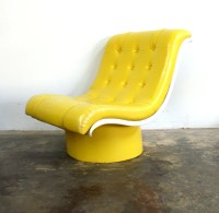 Bright Yellow Tufted Oversized Lounge Chair by ...