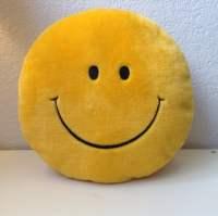 Retro Smiley Face Round Plush throw Pillow