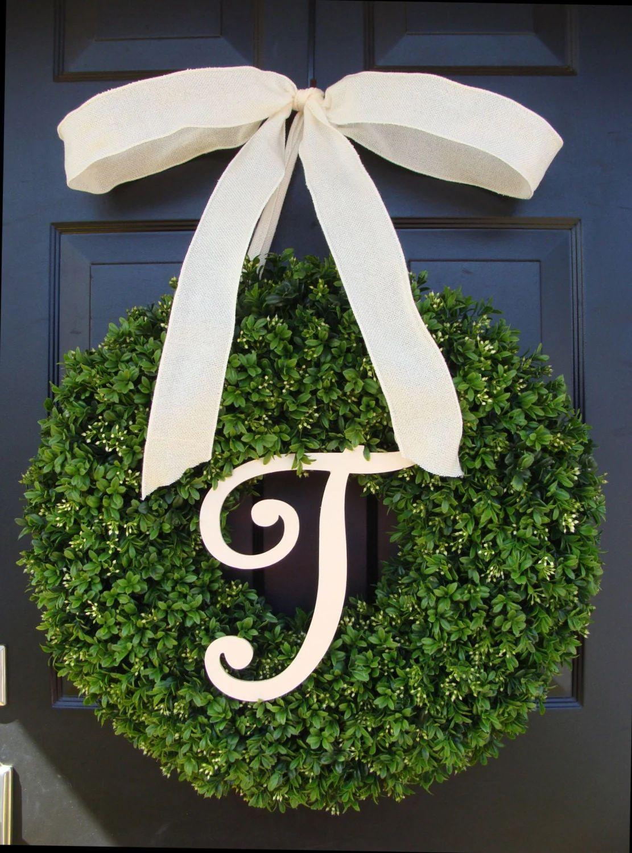 monogram wreath for front door