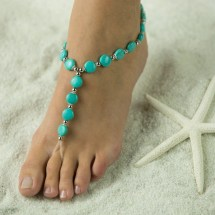 Timeless Turquoise Barefoot Sandals Foot Jewelry Free