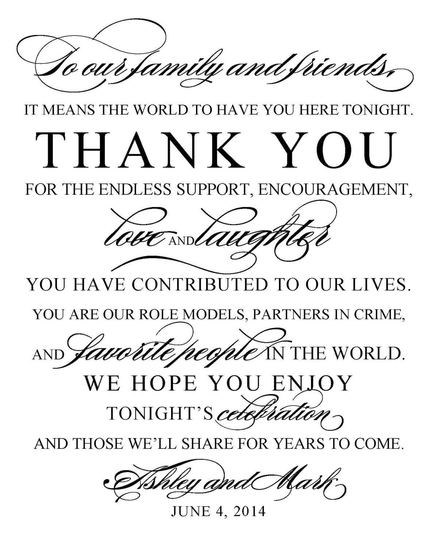 DIY Printable Wedding Sign Thank You Wedding and Event