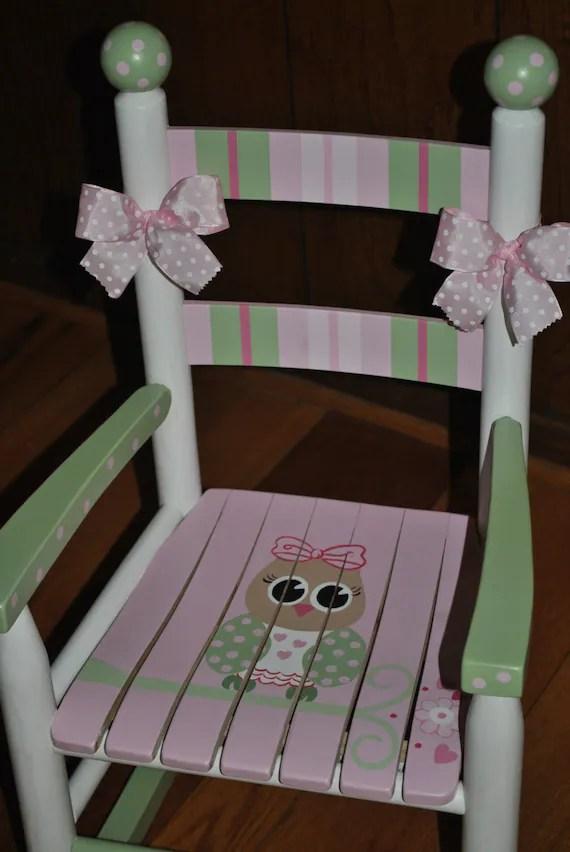 Items similar to Handpainted Rocking ChairKids Rocking