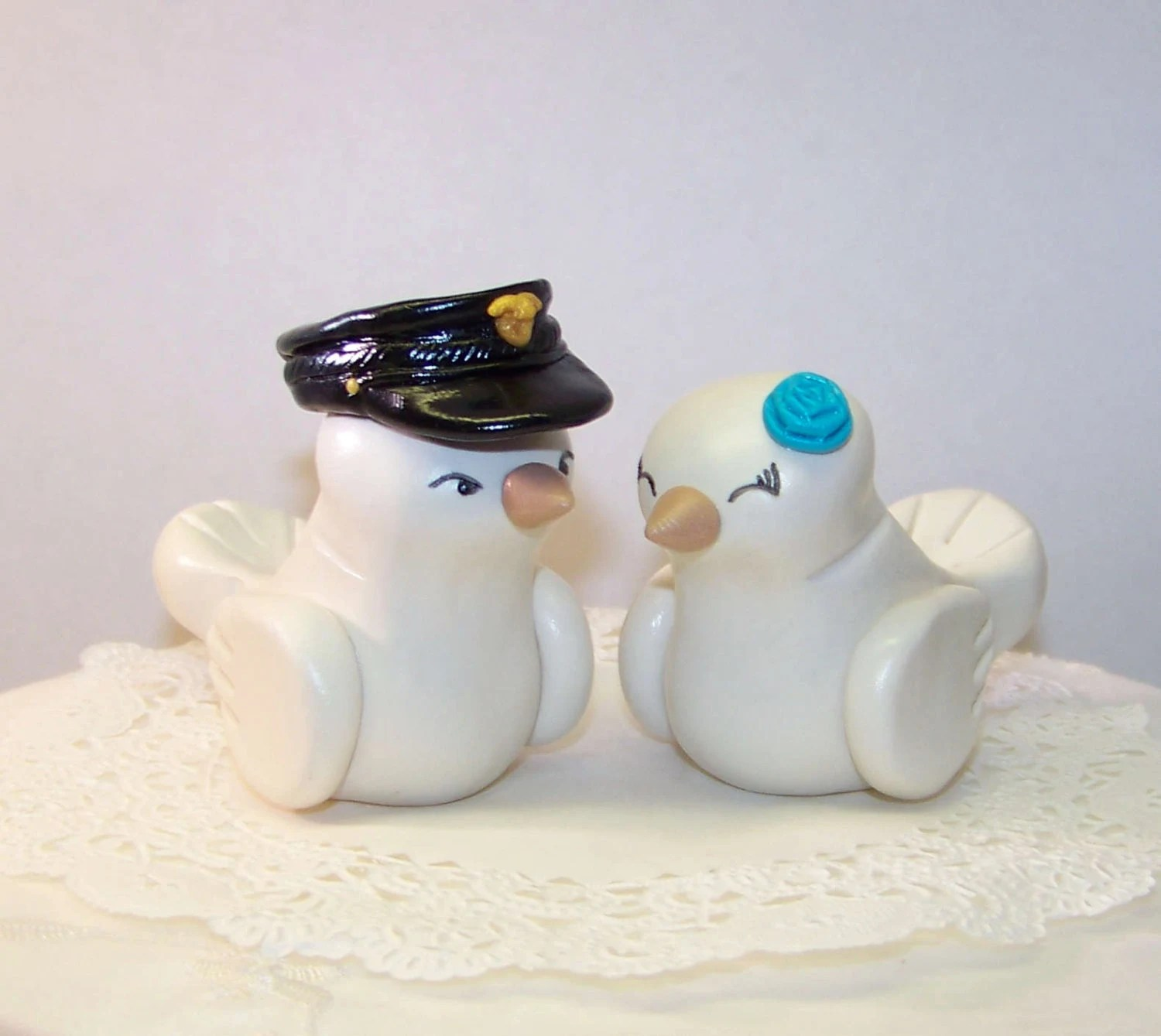 Police Officer Wedding Cake Topper Love Birds Cake Topper
