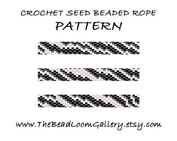 Beaded Rope Pattern PDF File Tutorial Crochet Seed Beaded