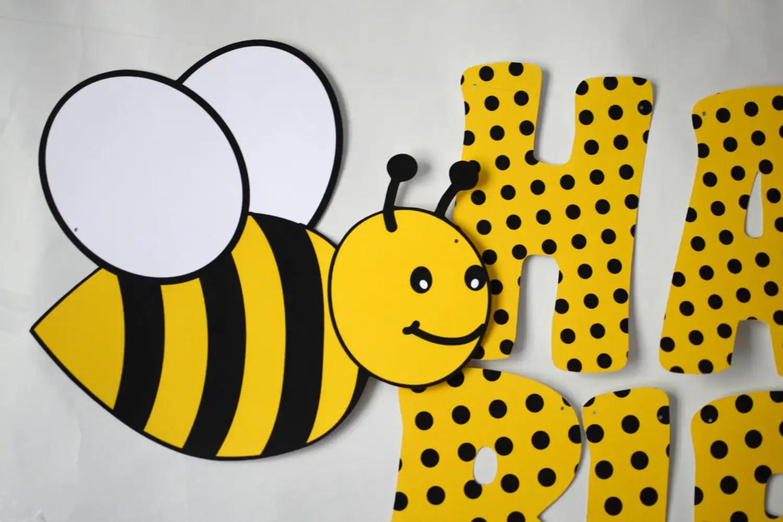 Bee Birthday Banner Etsy