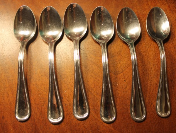 Vintage Flatware Gibson In Beaded Pattern With Rounded Tip