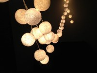 White cotton ball string lights for PatioWeddingParty and ...