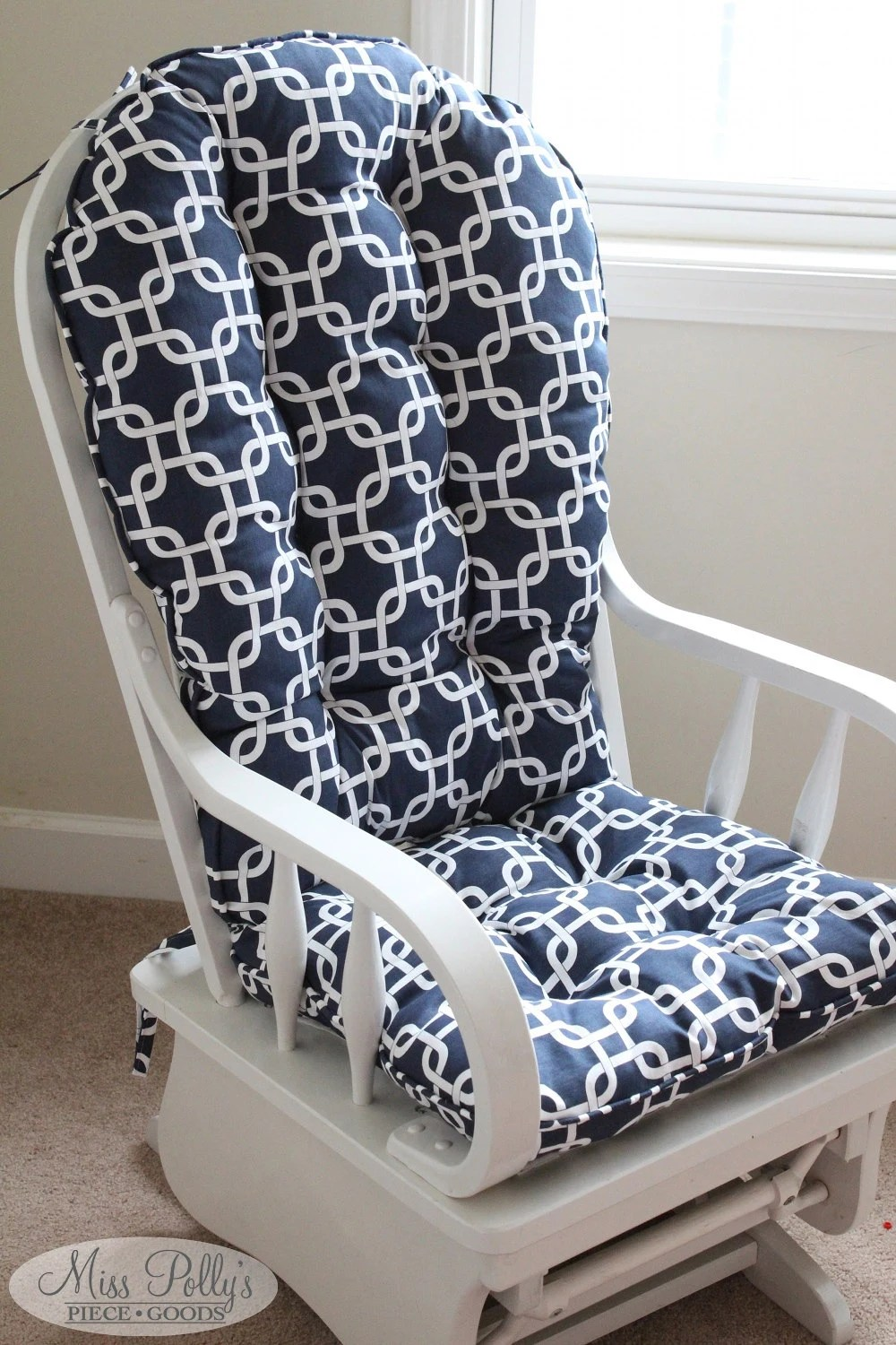 rocking chair slipcovers for nursery rattan garden chairs and table glider cushion   etsy