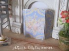 Blue Spring Fire Screen for Dollhouse