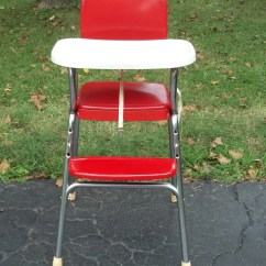 Antique High Chairs Revolving Chair Nagpur Vintage 1950s Cosco In Red Vinyl And Chrome White