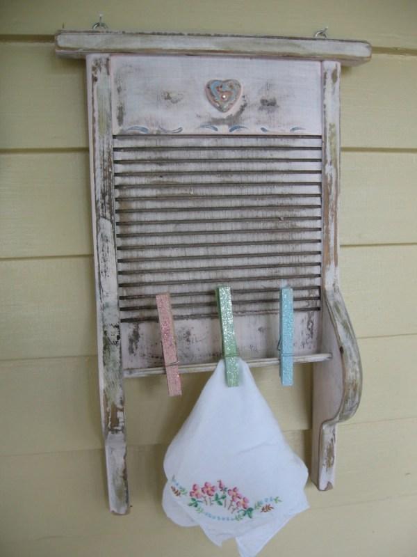 Vintage Washboard Decor Laundry Room Upcycled