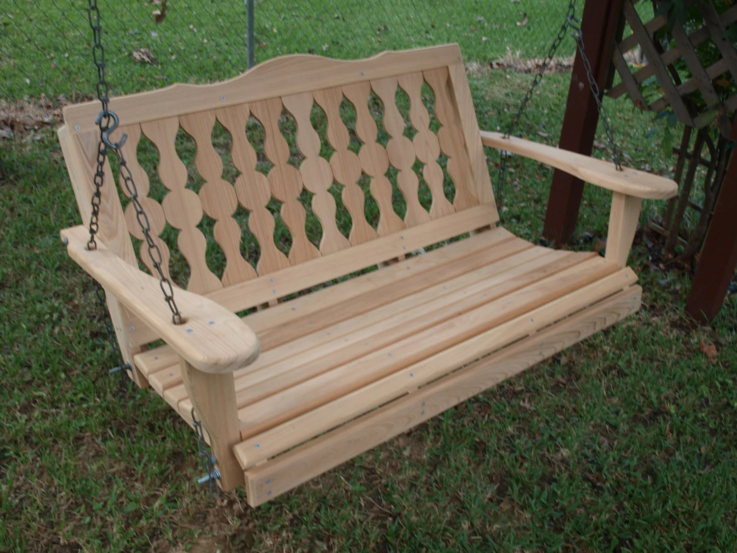 swing seat kit executive office chairs johannesburg 5 foot victorian cypress porch
