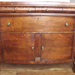 Antique Tiger Oak Dining Room Chairs Hanging Chair For Living C 1800 American Empire Buffet Cabinet