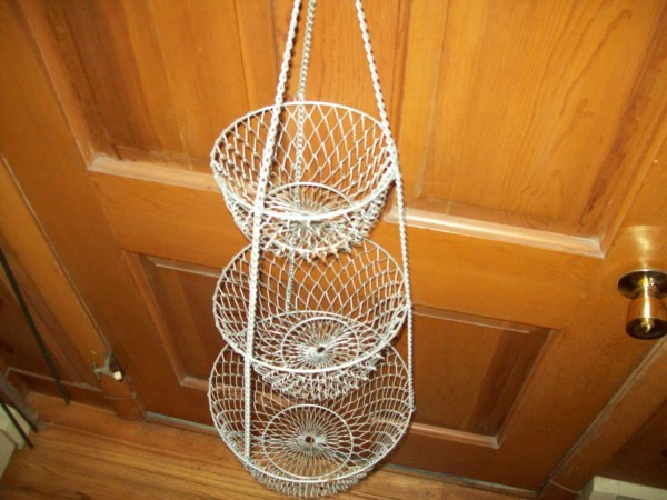 3 Tier Hanging Wire Mesh Baskets
