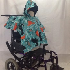 Wheelchair Blanket Farmhouse Table And Chairs With Bench Items Similar To Kid Poncho Coat Cover (4-9years Old) Dino Black On Etsy