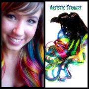 neon rainbow hair extensions