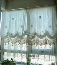 Sale: Shabby Chic Drawnwork Balloon Curtain Pull-up Curtain