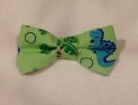 Dinosaur Bow tie - green tie - clip on -infant tie toddler ...
