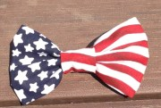 waving american flag bow red white