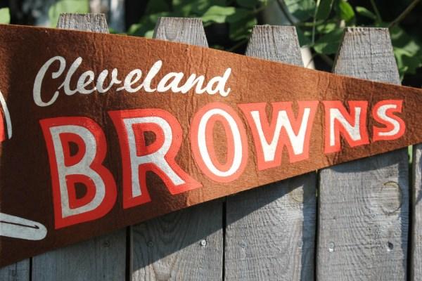 Vintage 1967 Cleveland Browns Nfl Football Pennant