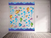 Ocean Wall Decal Ocean Theme Nursery Ocean Theme Bathroom