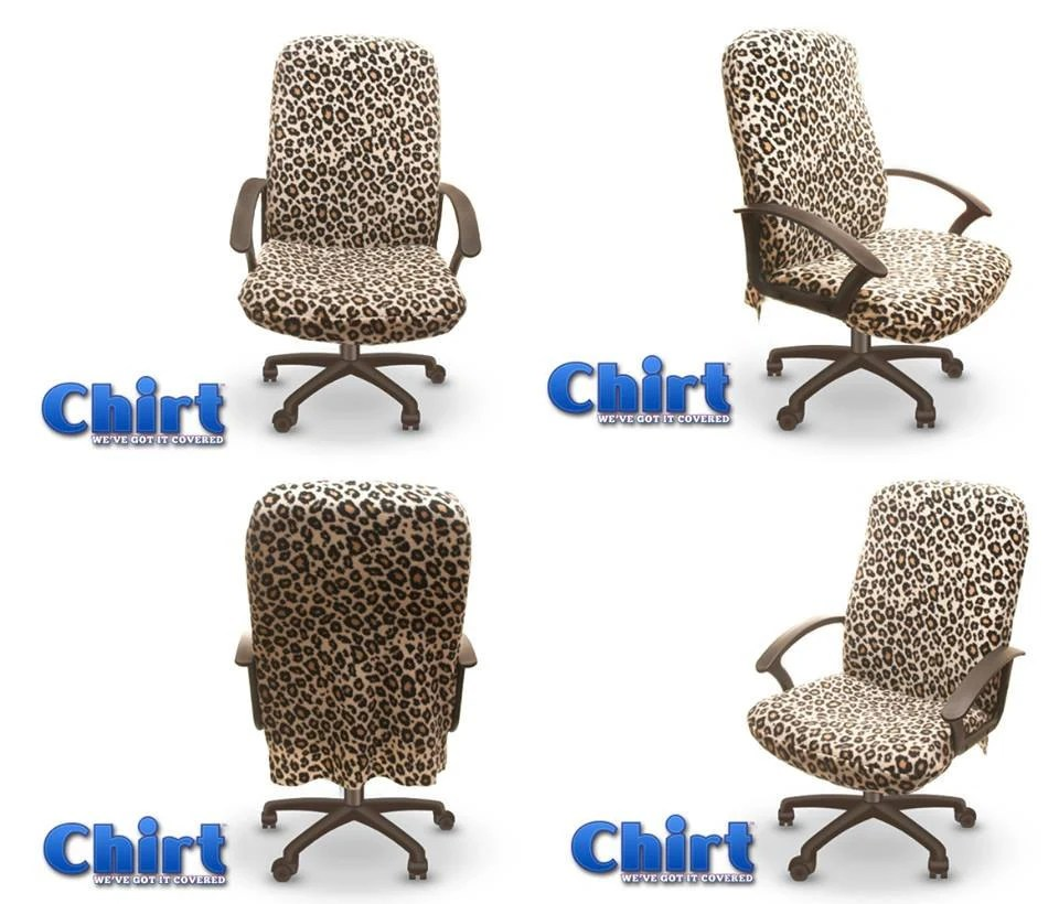 rocking chair covers canada camouflage recliner leopard print chirt office cover by chairwearfashion on etsy